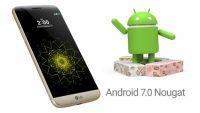 LG G5 için Nougat 7.0 gelmeye başladı